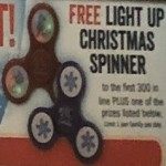 BassPro.com deals on FREE Light Up Christmas Spinner to First 300 Customers