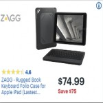 BestBuy.com deals on Zagg Rugged Book Apple iPad Keyboard Folio Case
