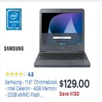 Samsung 11.6-inch Chromebook w/Intel Celeron, 4GB RAM Deals