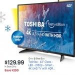 BestBuy.com deals on Toshiba 43-inch 2160p Class LED Smart 4K UHD TV with HDR