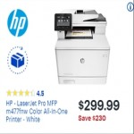 BestBuy.com deals on HP LaserJet Pro M477fnw Color All-In-One Printer
