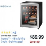 BestBuy.com deals on Insignia 14-Bottle Wine Cooler