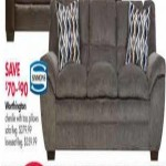 Simmons Worthington Chenille Sofa w/Toss Pillows  Deals