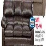 Simmons Crossbrown Faux Leather Sofa Deals