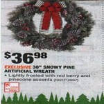 Deals on Home Accents Holiday 30 in. Snowy Pine Artificial Wreath