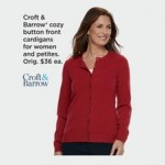 Croft & Barrow Womens Button Cardigans Deals