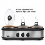 Bialetti Copper Ceramic Nonstick Triple Slow Cooker Deals