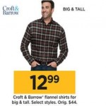 Croft & Barrow Big & Tall Mens Flannel Shirts Deals