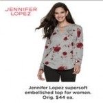 Kohls deals on Jennifer Lopez Womens Tops