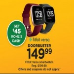 Kohls deals on Fitbit Versa Smartwatch + $45 Kohls Cash