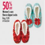 Sears deals on 50% Off Womens Cozy Fleece Slipper Socks