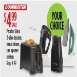 Sears deals on Proctor Silex 2-Slice Toaster,  Hand Mixer , Can Opener or Iron