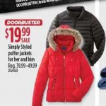 Sears deals on Simply Styled Mens & Womens Puffer Jacket