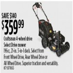 Sears deals on Craftsman 4-Wheel Drive