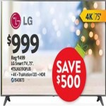 Deals on LG 75-in 4K TruMotion Smart TV