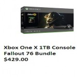 amazon deals on Xbox One X 1TB Console Fallout 76 Bundle