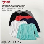 Zelos Womens Long Sleeve Cotton Tees Deals