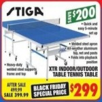 big5sportinggoods deals on Stiga XTR Indoor/Outdoor Table Tennis Table