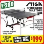 big5sportinggoods deals on Stiga ST3100 Indoor Table Tennis Table