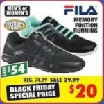 big5sportinggoods deals on FILA Memory Finition Mens Running Shoes