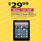 bjs deals on Amazon Fire 7-inch Tablet with Alexa, 8GB Memory