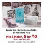 Deals on 5 Hot Off The Press Special Selection Embossing Folders