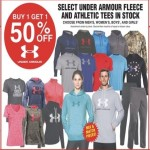 Buy One Get One 50% off Under Armour Athletic Tees or Fleece Deals