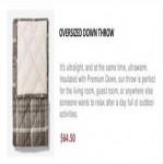 Oversized Down Throw Deals