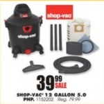 farmandfleet deals on Shop-Vac 12-gallon 5.0 PHP