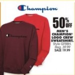 Deals on 50% off Champion Mens Logo Crew Sweatshirt