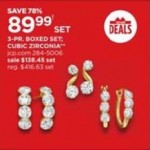 jcpenney deals on 3-pr. Boxed Set Cubic Zirconia Earring