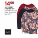 jcpenney deals on Alyx Cozy Womens Sweatshirts