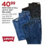 Big & Talls Mens Levis 550 Relaxed Jeanes Deals