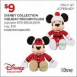 jcpenney deals on Disney Collection Holiday Medium Mickey Plush