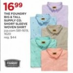 jcpenney deals on The Foundry Big & Tall Supply Co. Short Sleeve Woven Shirt