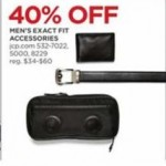 jcpenney deals on 40% Off Exact Fit Mens Accessories