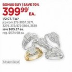 jcpenney deals on Modern Bride .50-cttw. Rings