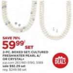 jcpenney deals on 2 Piece Boxed Set Cultured Freshwater Pearl or Crystal