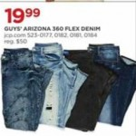 jcpenney deals on Arizona Mens 360 Flex Denim