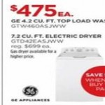 jcpenney deals on GE 4.2-cu.-ft. Top Load Washer GTW460ASJWW