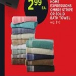 Homes Expressions Ombre Stripe Bath Towel Deals