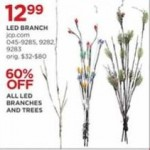jcpenney deals on 60% Off LED Branches & Trees