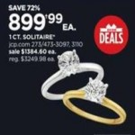jcpenney deals on 1-ct. Solitarie Ring