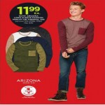 Arizona Mens Long-Sleeve Fashion Henley or Thermal Tee Deals