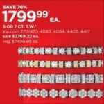 jcpenney deals on T.W. 5-cttw. or 7-cttw. White Diamond 10K Gold Tennis Bracelet from 1799.99