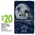 kmart deals on Team Sports Plush Throws