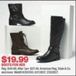 macys deals on Boots for Her