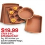 macys deals on Crux 5-pc. Bakeware Set