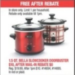 macys deals on 1.5 Qt. Bella Slowcooker for FREE (After Rebate)