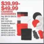 macys deals on Cashmere Accessories for $39.99 - $49.99